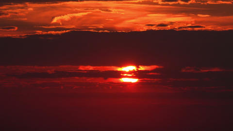 Red Sunset Close Up - HD stock footage