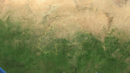 BURKINA FASO. Zoom in on BURKINA FASO Animation