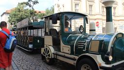 City tour car in Prague, Czech Republic Live Action