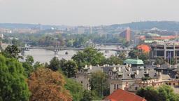 Prague, bridges on a the Vltava river Live Action