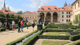 Wallenstein Garden In Prague, Czech Republic stock footage
