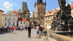 Prague, Czech Republic. Summer on the Charles brid Footage