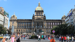 Prague. National Museum Building stock footage