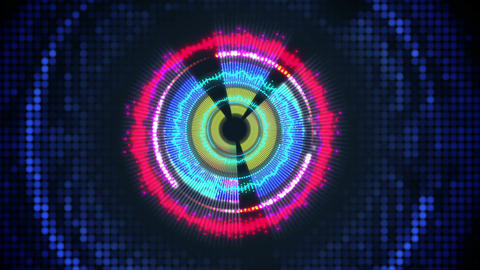 Digital Heart Sound Spectrum Vj Loop Background stock footage