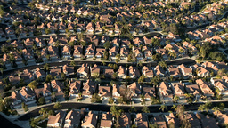 720 Aerial Box Houses 2 PJPEG stock footage