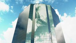 CC Buildings Clouds 4 Proj stock footage