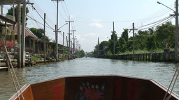 Thailand Floating Market 10 stock footage