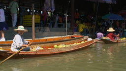 Thailand Floating Market 8 stock footage