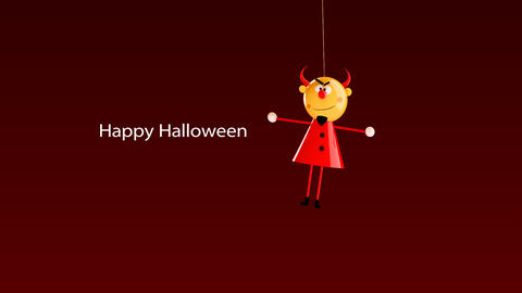 hilarious video greeting card for halloween Stock Video Footage