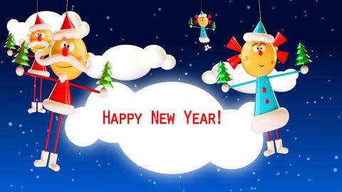 New Year greetings Stock Video Footage