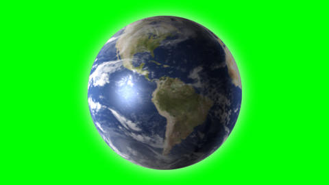 world universe digital company business internet earth globe green screen Animation