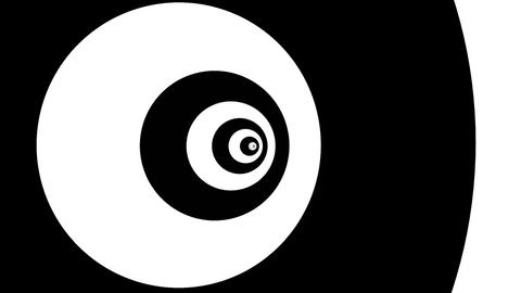 Optical illusion target tunnel retro spiral hypnosis... Stock Video Footage