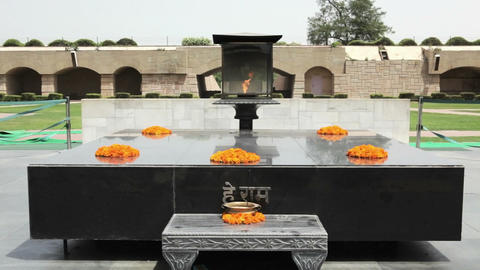 Raj Ghat, Gandhi Memorial Stock Video Footage