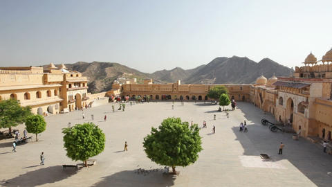 Amber Fort in Jaipur, India Stock Video Footage
