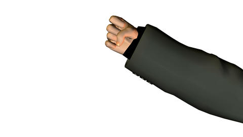 business man finger counting. loop Animation