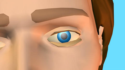 way to eye businessman Animation