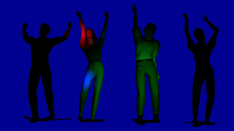 dancing people looping in dark Animation
