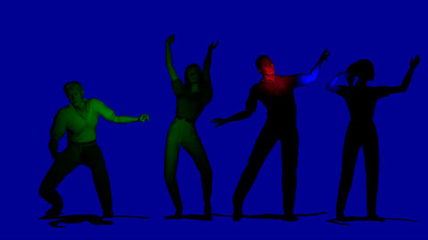 dancing people looping in dark Stock Video Footage