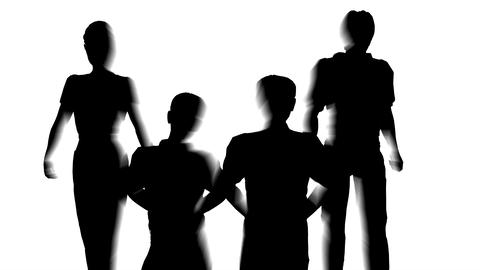 family making house silhouette Stock Video Footage