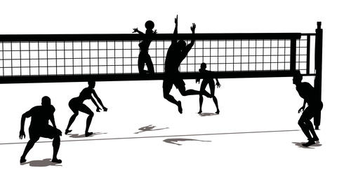 volleyball silhouette Animation