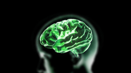 green brain zoom into cell Stock Video Footage