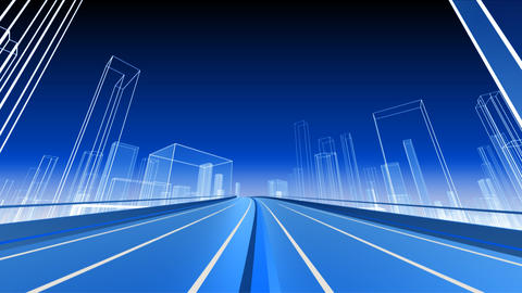 City Highway 2b2 HD Stock Video Footage
