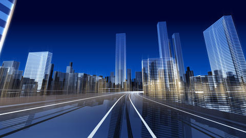 City Highway 2cc2 HD Stock Video Footage