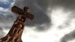 Aztec Maya Inca Cross Clouds Timelapse 03 Stock Video Footage