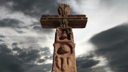 Aztec Maya Inca Cross Clouds Timelapse 07 Stock Video Footage