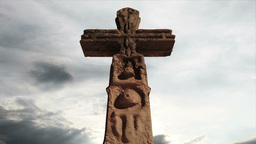 Aztec Maya Inca Cross Clouds Timelapse 07 Stock Video Footage