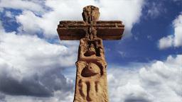 Aztec Maya Inca Cross Clouds Timelapse 09 Stock Video Footage