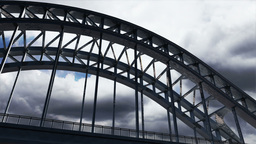 Bridge Clouds Timelapse 01 Stock Video Footage