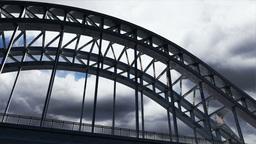 Bridge Clouds Timelapse 01 Stock Video Footage