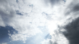 Clouds Timelapse Godrays 01 Stock Video Footage