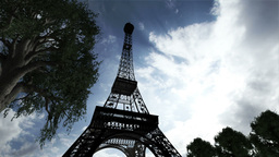 Eiffel Tower Clouds Timelapse 01 Animation