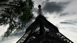 Eiffel Tower Clouds Timelapse 07 Animation