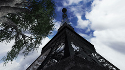 Eiffel Tower Clouds Timelapse 09 Animation