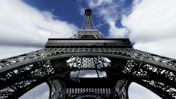 Eiffel Tower Fisheye Clouds Timelapse 04 Animation