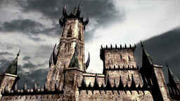 Fantasy Castle Clouds Timelapse 02 Stock Video Footage