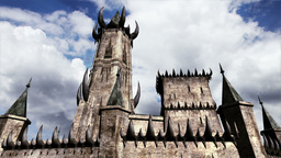 Fantasy Castle Clouds Timelapse 04 Stock Video Footage