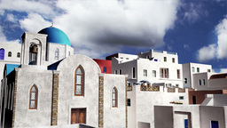Greek Village Clouds Timelapse 08 Stock Video Footage