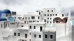 Greek Village Clouds Timelapse 12 Stock Video Footage