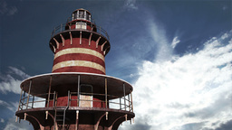 Lighthouse Clouds Timelapse 01 Stock Video Footage