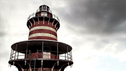 Lighthouse Clouds Timelapse 03 Stock Video Footage