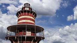Lighthouse Clouds Timelapse 05 Stock Video Footage