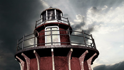 Lighthouse Clouds Timelapse 07 Stock Video Footage