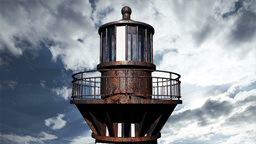 Lighthouse Clouds Timelapse 17 Stock Video Footage