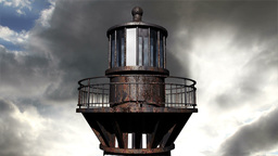 Lighthouse Clouds Timelapse 19 Stock Video Footage