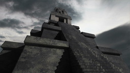 Maya Pyramid Clouds Timelapse 02 Stock Video Footage