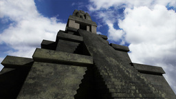 Maya Pyramid Clouds Timelapse 04 Stock Video Footage